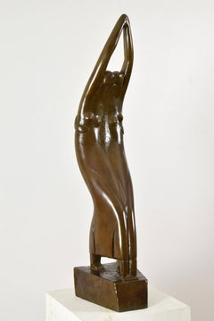 Deux Danseuses by Chana Orloff - Bronze, figurative sculpture, School of Paris