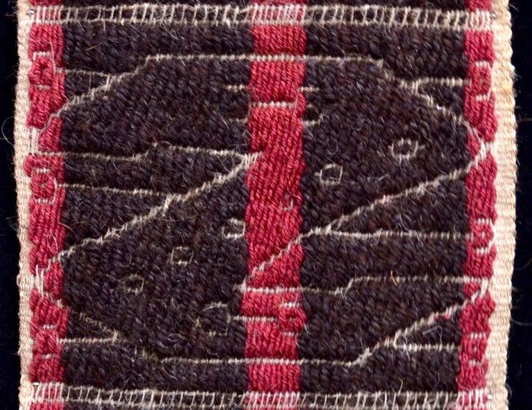 Peruvian Chancay Pre-Columbian Textile - Peru Ca. 1100-1400 AD- Ex Ferdinand Anton For Sale