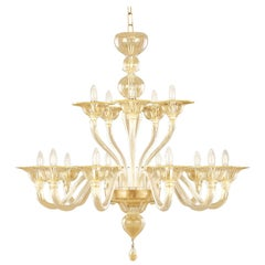 Chandelier 10+ 5 Arms Golden Artistic Glass Simplicissimus 360 by Multiforme