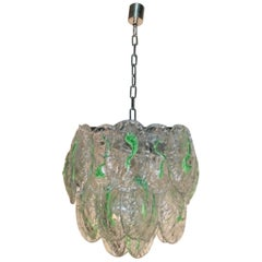 Italian Chandelier Murano glass by Mazzega 1960s. Working condition.