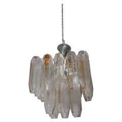 Chandelier 1960s Murano Glass Venini Design Toni Zuccheri