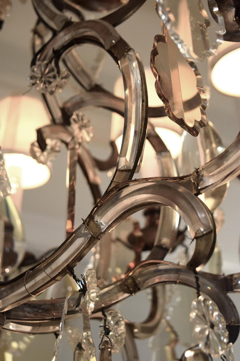 Rococo Revival Chandelier Attributed to Bagues For Sale
