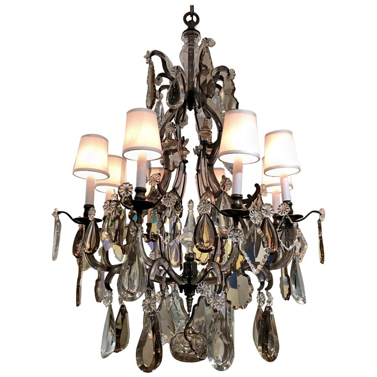 Chandelier Attributed to Bagues For Sale