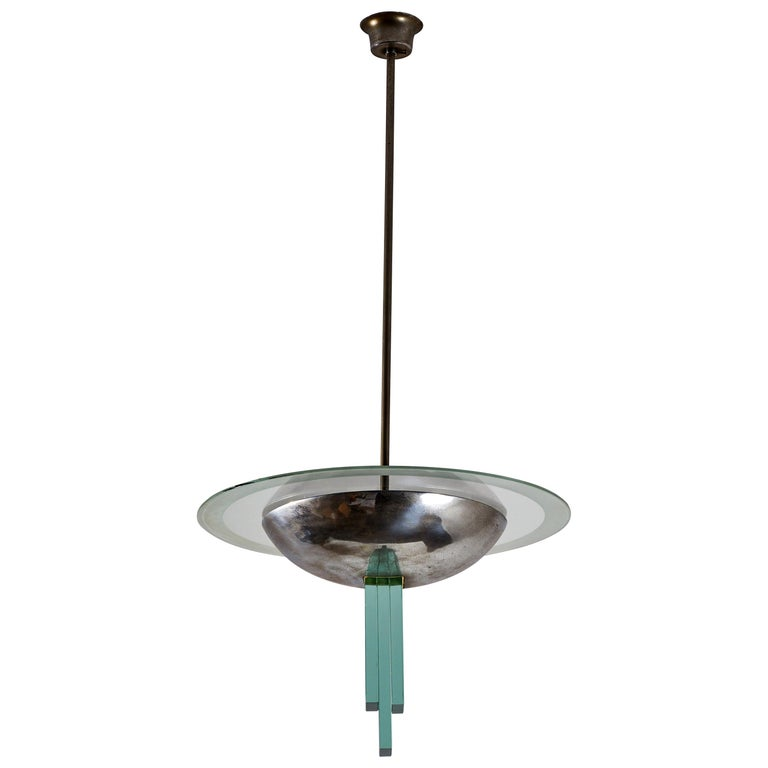 Chandelier Attributed to Pietro Chiesa for Fontana Arte For Sale