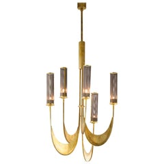 Chandelier Brass Handcrafted Gold Italy