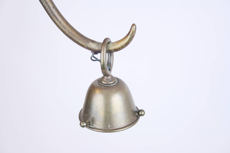 Chandelier Brass in the Manner of Dagobert Peche Wiener Werkstätte, Austria 1910 For Sale 3