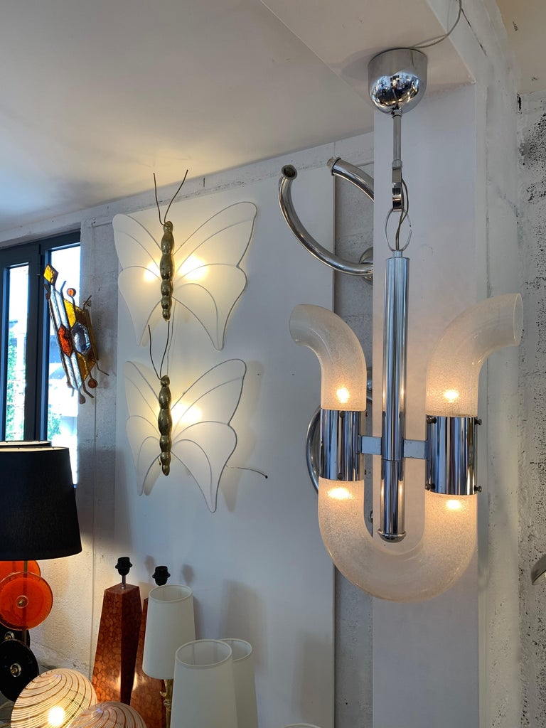 Chandelier by Aldo Nason for Mazzega Murano, Italy, 1970s For Sale 1