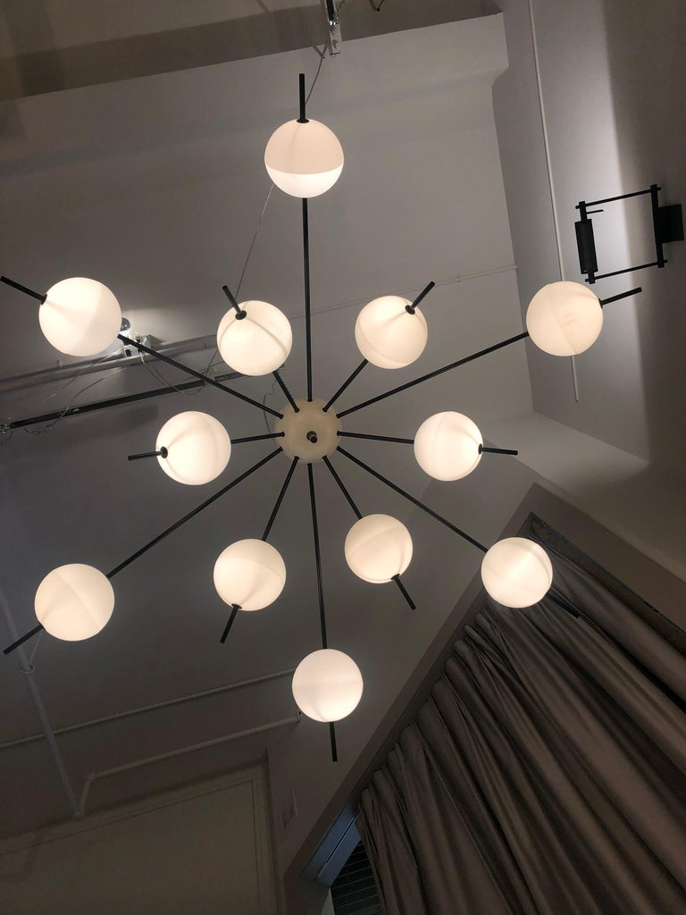 Chandelier by Angelo Lelii for Arredoluce, Italy, 1958 In Good Condition For Sale In New York, NY