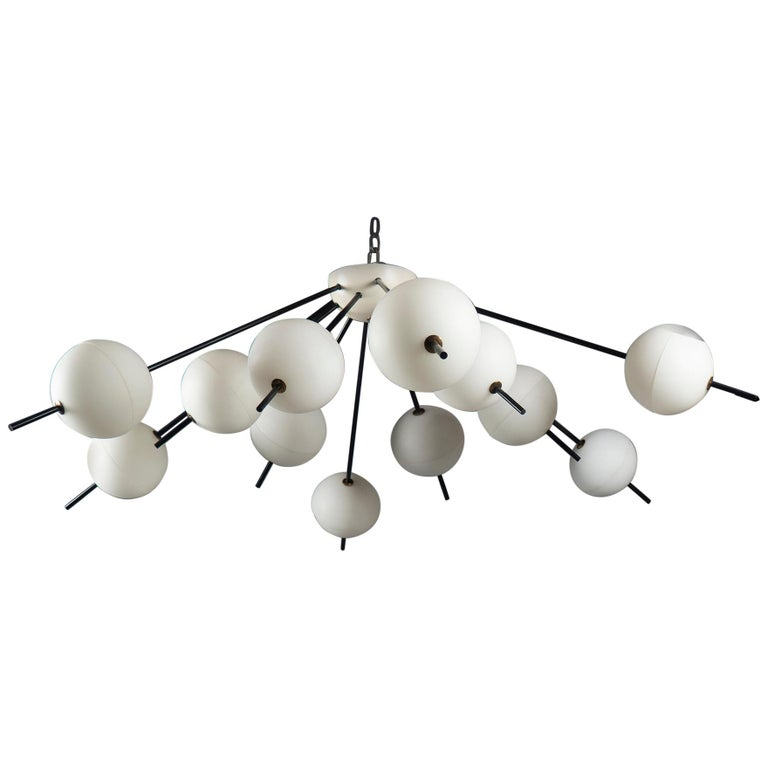 Chandelier by Angelo Lelii for Arredoluce, Italy, 1958 For Sale