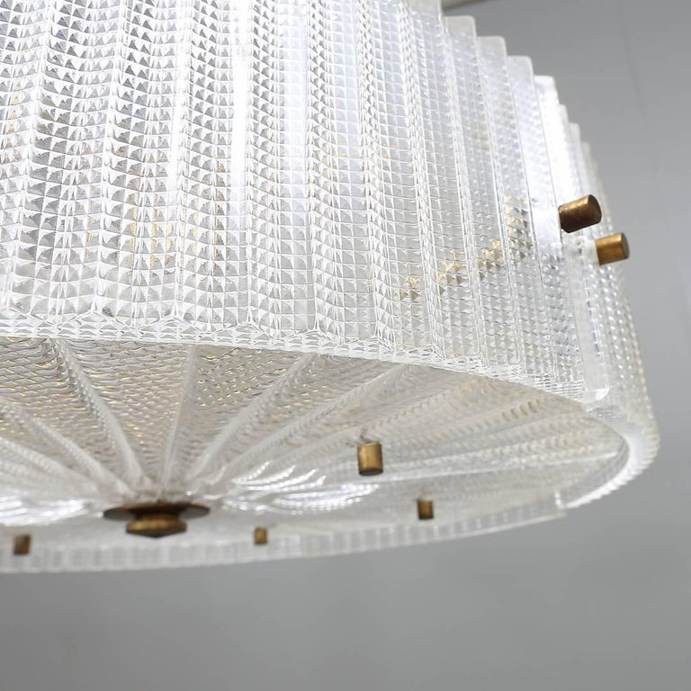 Swedish Chandelier by Carl Fagerlund for Orrefors For Sale