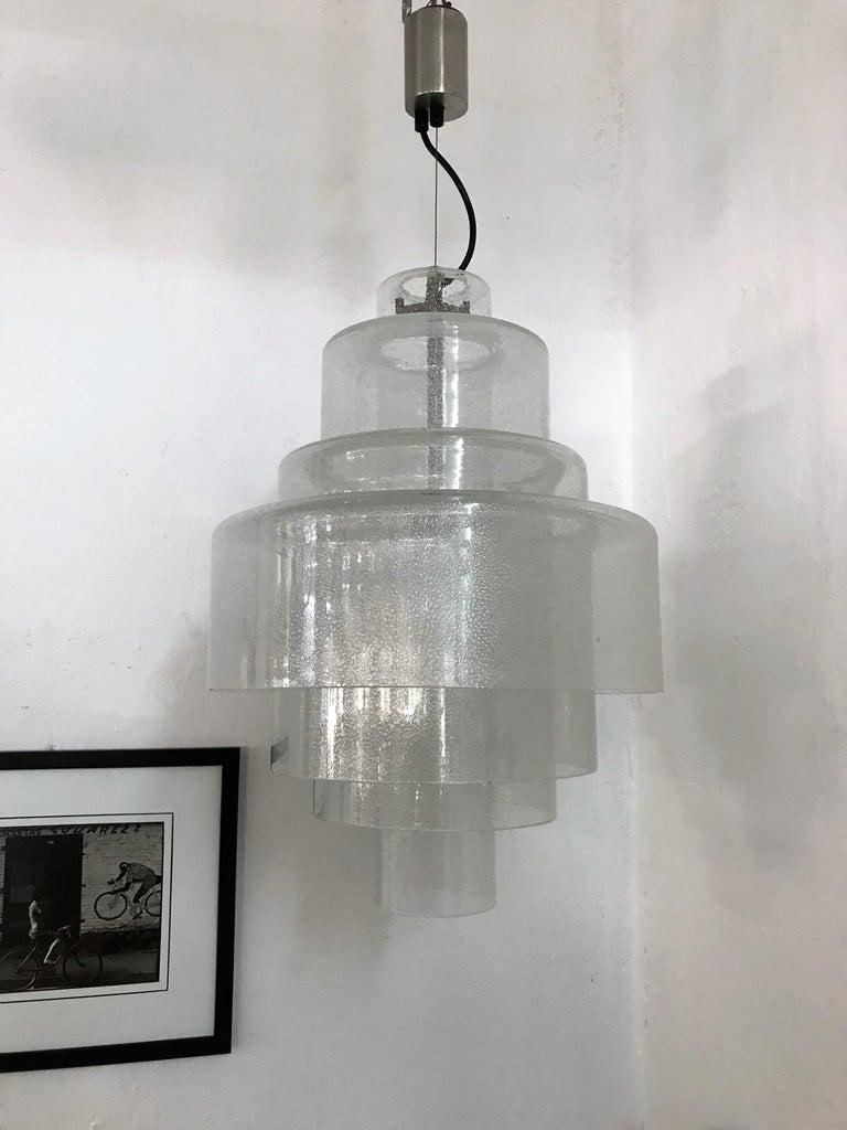 Chandelier by Carlo Nason for Mazzega in Murano Pulegoso Glass, circa 1960 For Sale 9