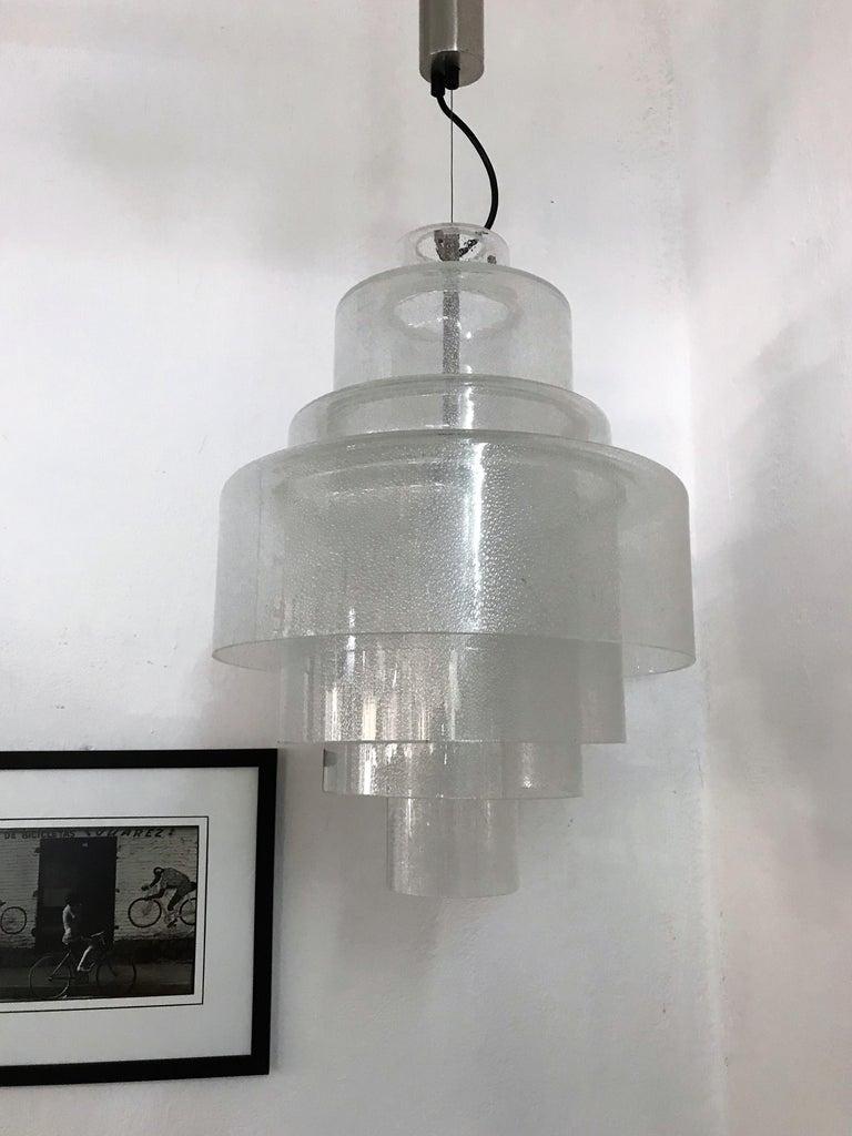 Chandelier by Carlo Nason for Mazzega in Murano Pulegoso Glass, circa 1960 For Sale 10