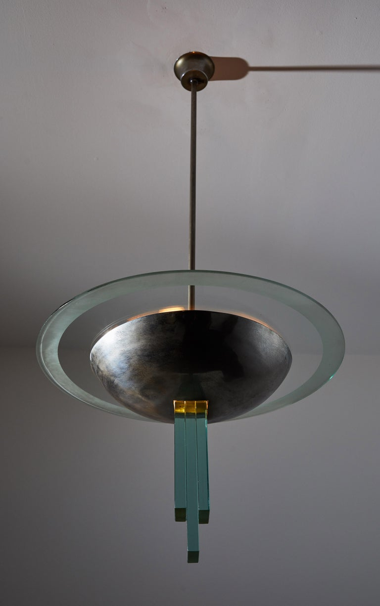 Mid-Century Modern Chandelier Attributed to Pietro Chiesa for Fontana Arte For Sale