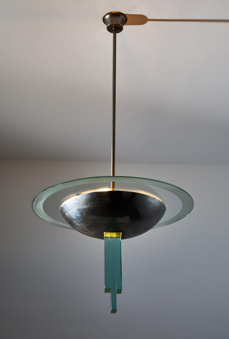 Italian Chandelier Attributed to Pietro Chiesa for Fontana Arte For Sale