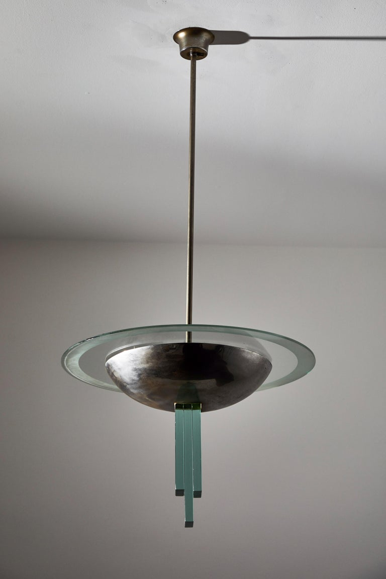 Mid-20th Century Chandelier Attributed to Pietro Chiesa for Fontana Arte For Sale