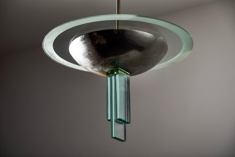 Chandelier Attributed to Pietro Chiesa for Fontana Arte For Sale 1