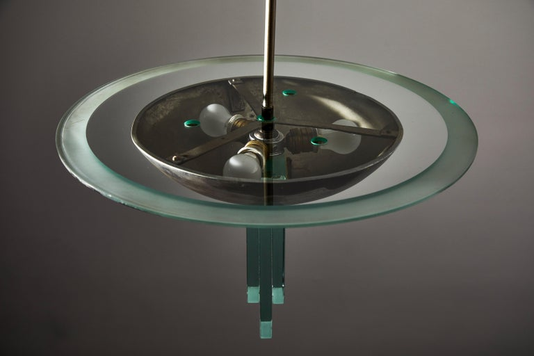 Chandelier Attributed to Pietro Chiesa for Fontana Arte For Sale 2