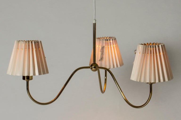 Brass Chandelier by Josef Frank for Svenskt Tenn, Sweden, 1950s
