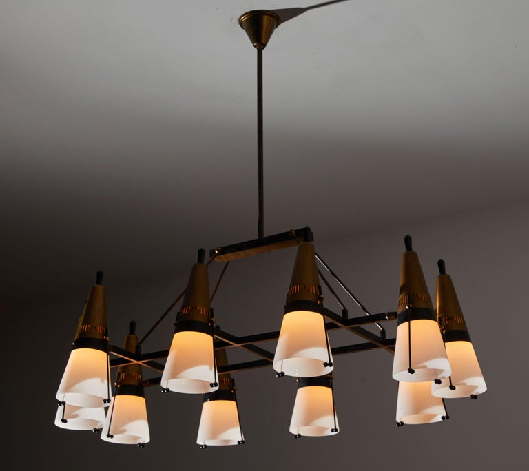 Mid-Century Modern Chandelier by Lamperti For Sale