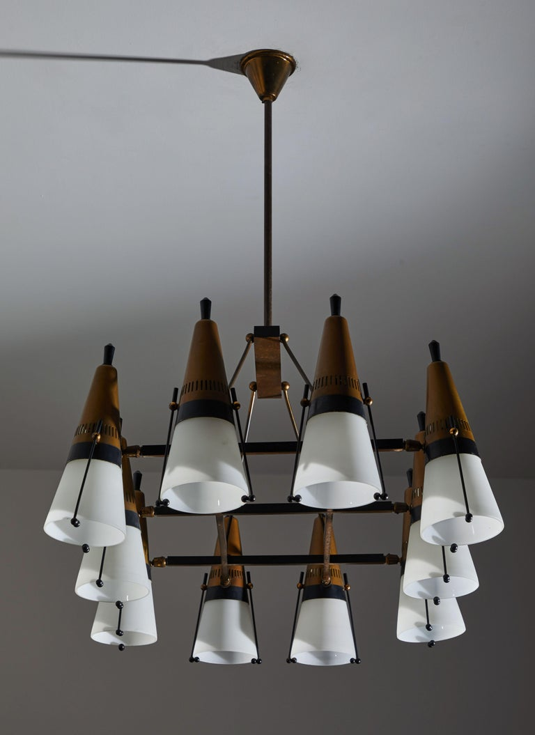Chandelier by Lamperti In Good Condition For Sale In Los Angeles, CA