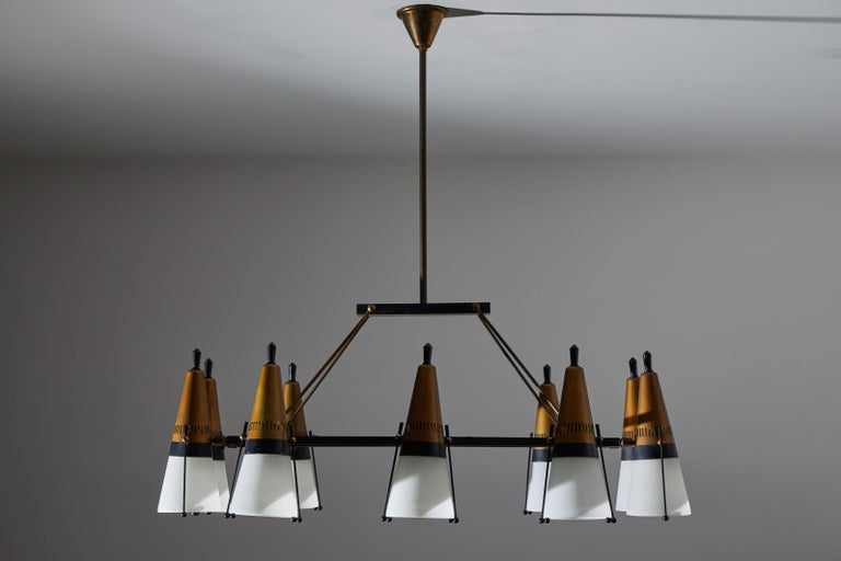 Chandelier by Lamperti For Sale 1