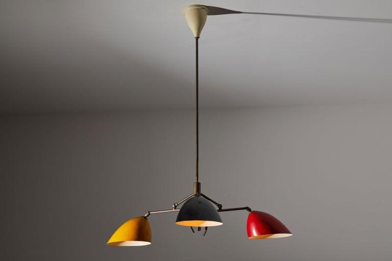 Mid-Century Modern Chandelier by Lumen For Sale