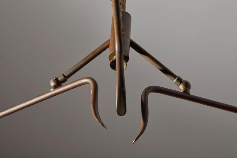 Metal Chandelier by Lumen For Sale