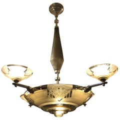 Chandelier by Muller Frères, 1930