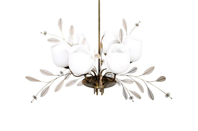 Finnish Chandelier by Paavo Tynell for Taito Oy For Sale