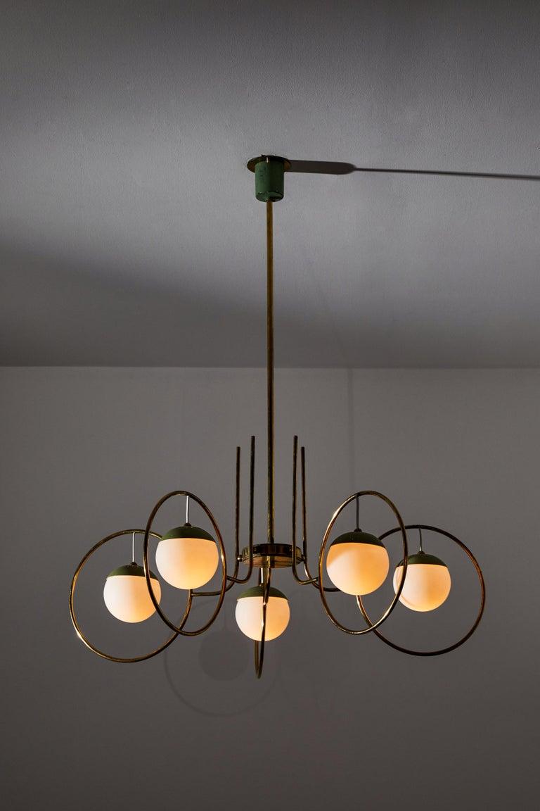 Mid-Century Modern Chandelier by Stilnovo For Sale