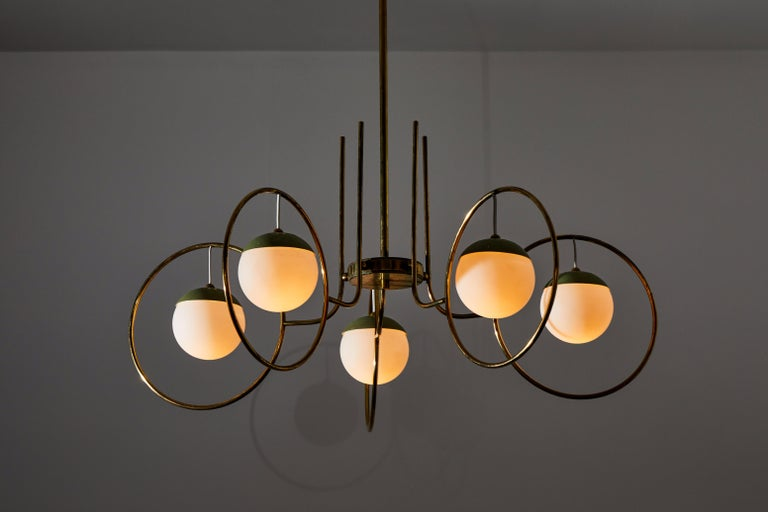 Chandelier by Stilnovo In Good Condition For Sale In Los Angeles, CA