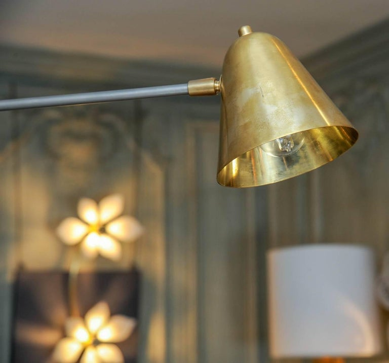 Brass Chandelier by Studio Glustin For Sale