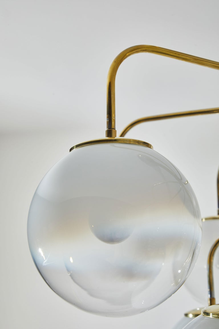 Chandelier by Angelo Mangiarotti for Candle  4