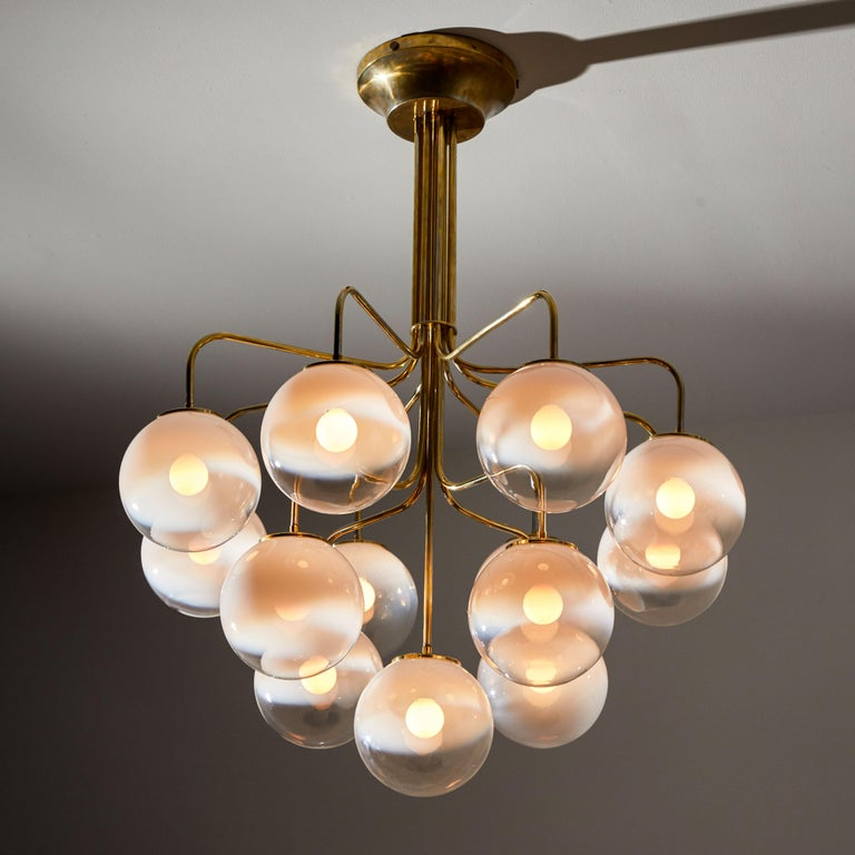 Mid-Century Modern Chandelier by Angelo Mangiarotti for Candle