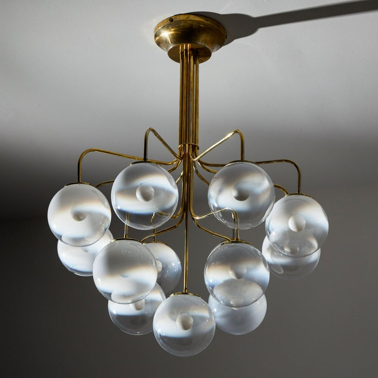 Italian Chandelier by Angelo Mangiarotti for Candle