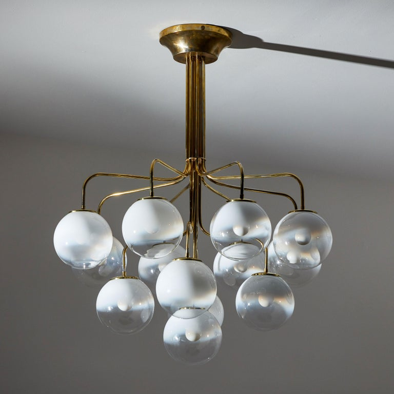 1960s Chandelier by Angelo Mangiarotti for Candle