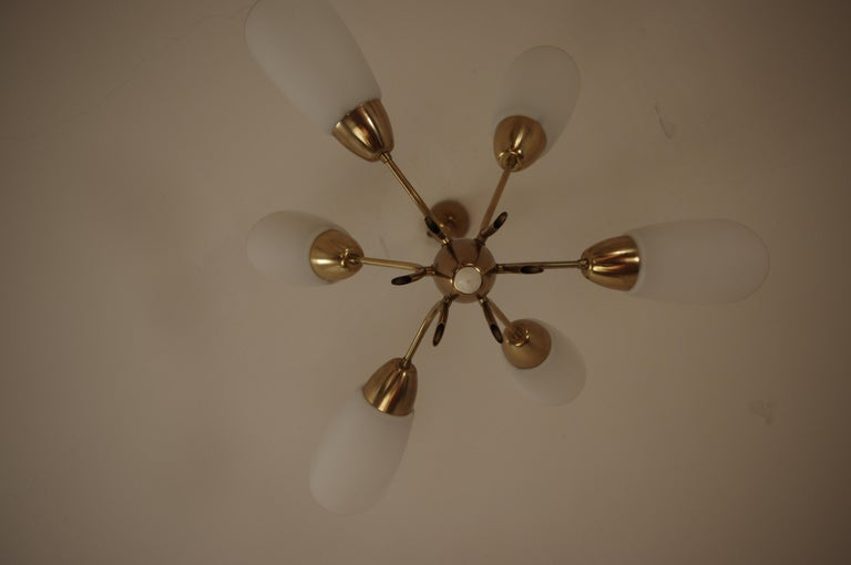 Chandelier, circa 1980, Made in Czechoslovakia For Sale 1
