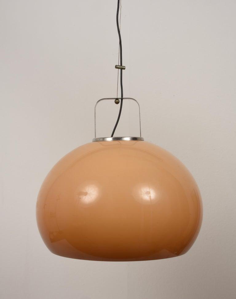 Chandelier in Perspex by Guzzini, Italy, 1970s, Italian lighting, pendant, lamp.