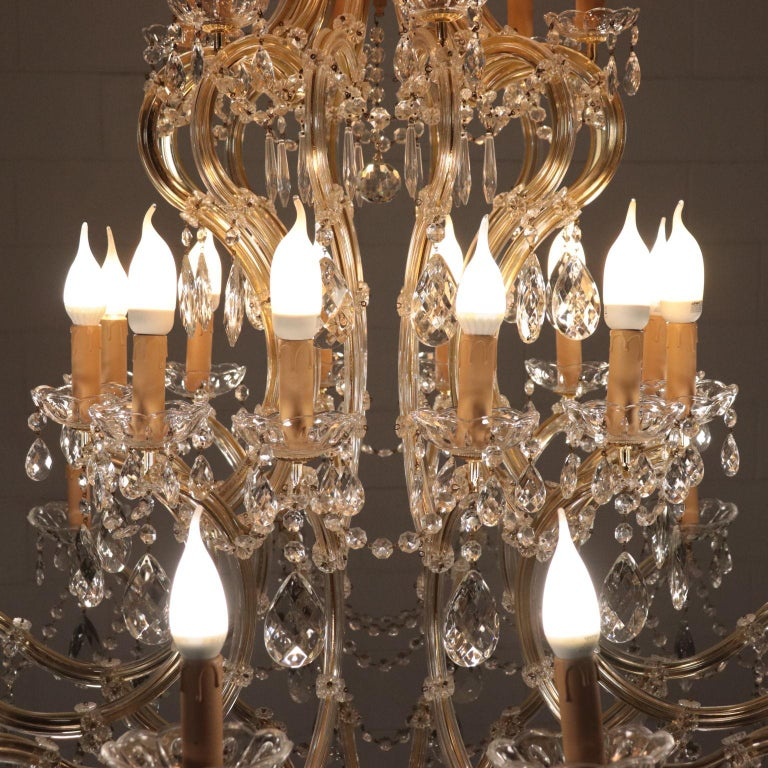 Italian Chandelier in the Style of Maria Theresa Glass, Italy, 20th Century For Sale