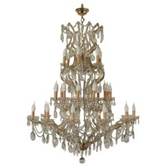 Chandelier in the Style of Maria Theresa Glass, Italy, 20th Century