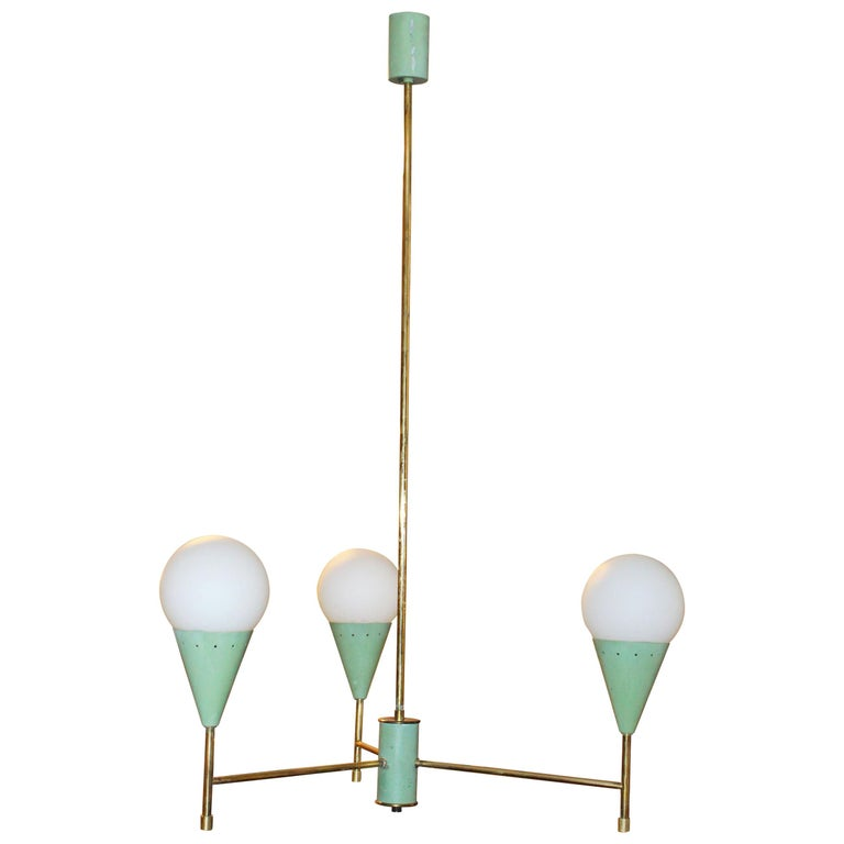 Chandelier in the Style of Stilnovo For Sale