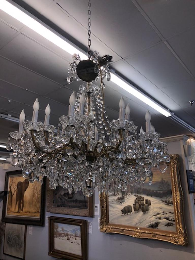 Other Chandelier Maria Teresa Style with Crystal Ornaments For Sale
