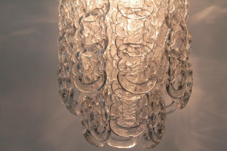 Chandelier Murano Artglass Vistosi Angelo Mangiarotti, 1970s For Sale 1
