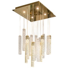 Chandelier New Pipe Small, Led, Muranese Glass, Italy