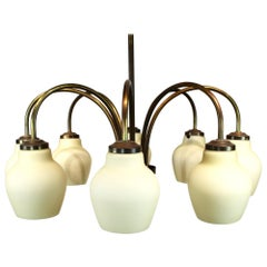 Chandelier or Ceiling Pendant of Brass by Fog & Mørup