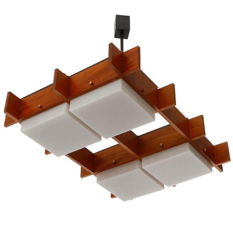 An Italian ceiling light fixture manufactured by Esperia in midcentury, circa 1960 (late 1950s or early 1960s).