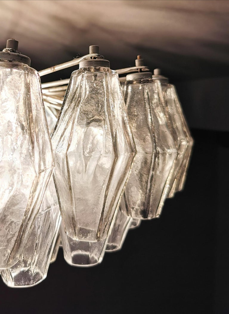 Chandelier Poliedri by Carlo Scarpa for Venini Murano Glass Midcentury Italy 60s 3