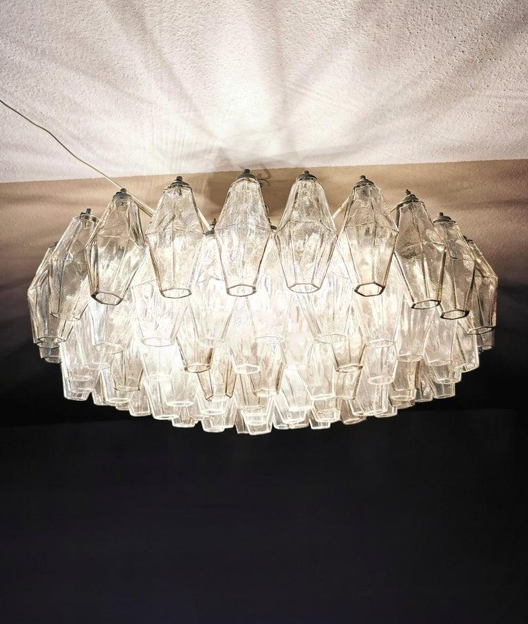 Chandelier Poliedri by Carlo Scarpa for Venini Murano Glass Midcentury Italy 60s 4