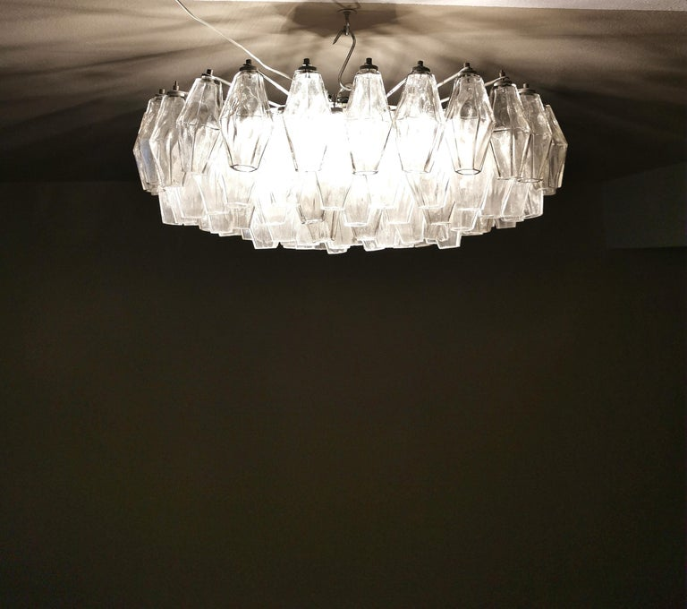 Chandelier Poliedri by Carlo Scarpa for Venini Murano Glass Midcentury Italy 60s 6