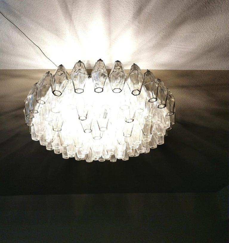 Chandelier Poliedri by Carlo Scarpa for Venini Murano Glass Midcentury Italy 60s 7